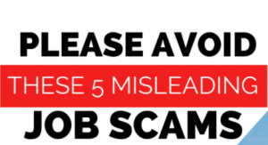work from home job scams