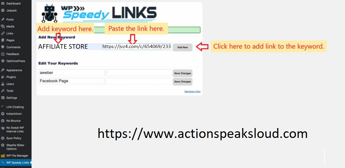 WP-Speedy-Links-Wordpress-Plugin