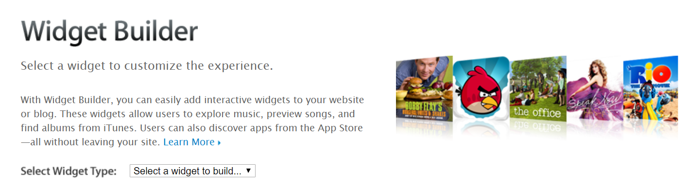 iTunes-affiliate-program-widget-builder