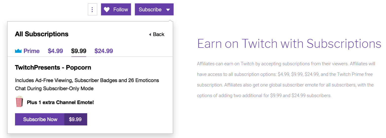 Twitch-subscription-fee